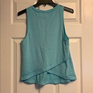 Champion teal blue burnout criss cross tank